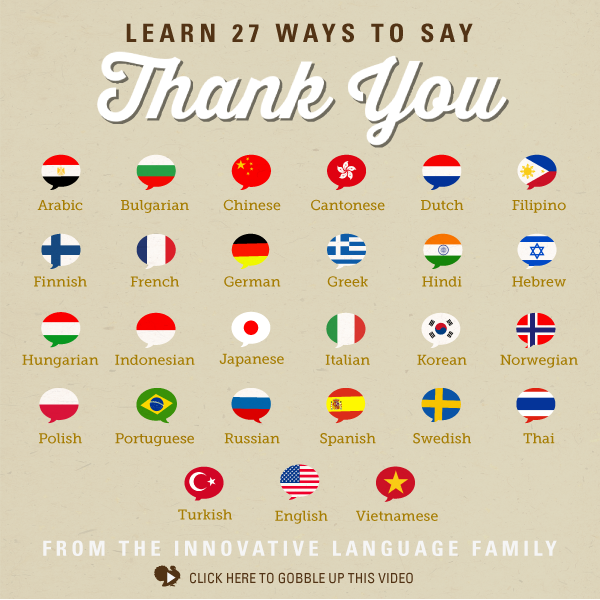 Thank Yourself This Thanksgiving & Learn 27 Ways To Say