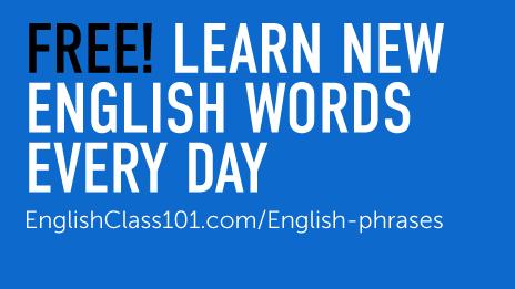 FREE English Word of the Day Widget - EnglishClass101